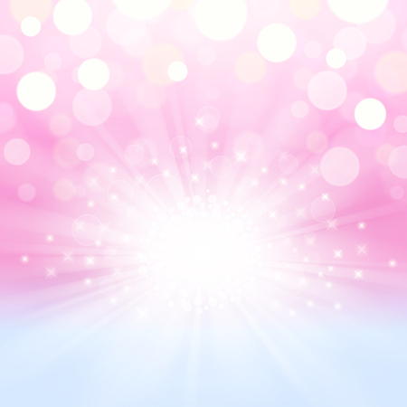 Abstract shining and glowing background in pink-blue colors Çizim
