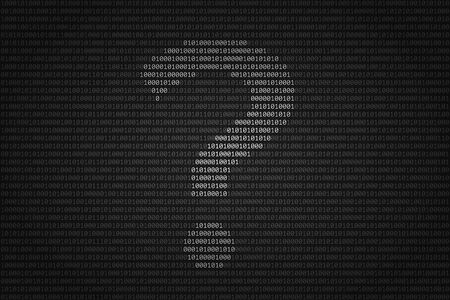 Silhouette of question mark over binary code surface. Concept of unidentified data and anonymity, search for answers in the digital information environment and cyber security. Modern technologies
