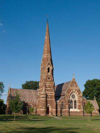 Brick church in Hartford Stock Photo