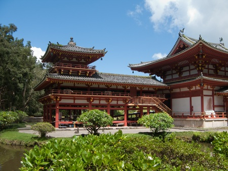 Byodo-in Buddhist temple, Oahu, Hawaii