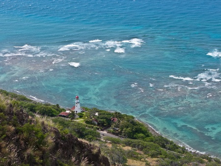 Diamond Head lighthouse Stock Photo