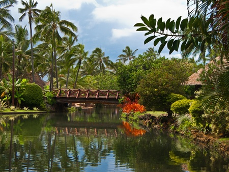 Polynesian village. Hawaii.