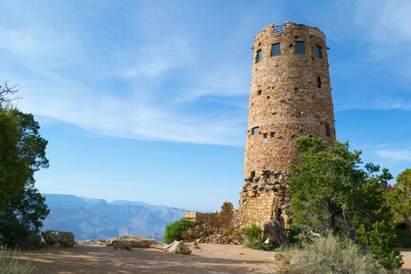 Desert View Watchtower, South Rim Grand Canyon Stock Photo