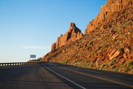 Road through mountains, Utah.