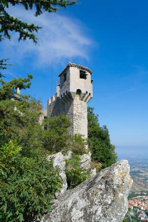La Cesta tower of Mount Titan in San Marino.