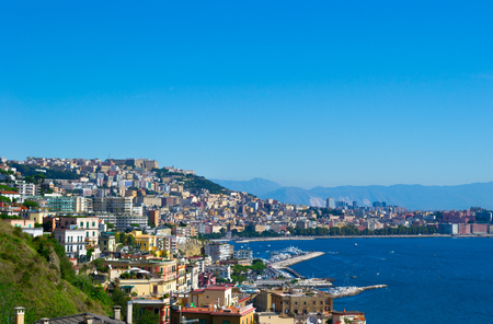 The gulf of Naples, Italy. Stock Photo