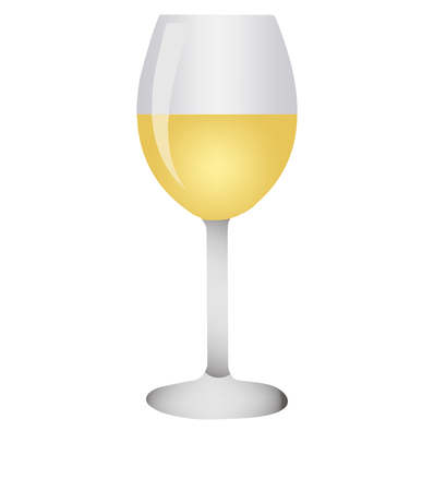 Realistic glass on white background. Vector illustration
