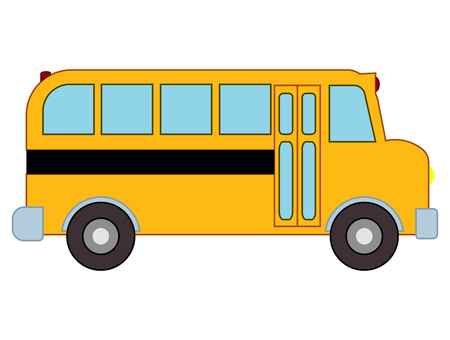 Yellow school bus. Can be utilized for any school project, class project by teachers or school adminstrators. Can be scaled and used as clipart for icons, footers, or other uses.