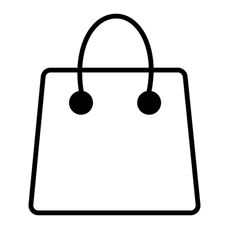Shopping Bag Simple Line Vector Icon. Eps 10 Stock Illustratie