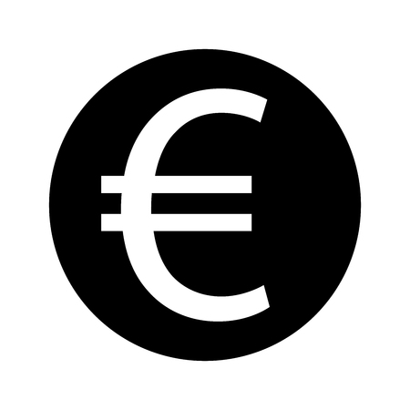 Euro sign icon stock vector illustration