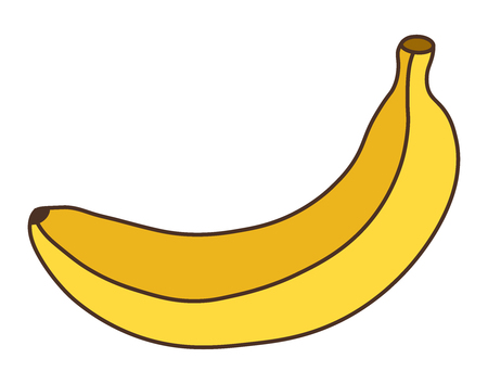 Banana icon isolated on white background. Banana fruit. Flat style vector illustration.
