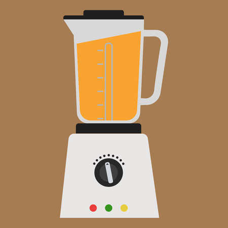 Blender isolated icon on white background. Fresh smoothie. Flat style illustration.