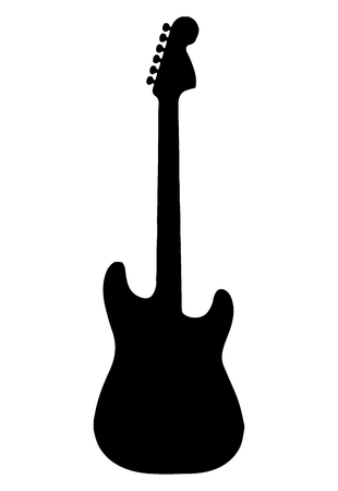 Guitar icon vector, Acoustic musical instrument sign Isolated on white background. Trendy Flat style for graphic design, Web site, social media, UI, mobile app, EPS10