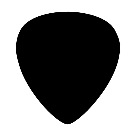 Guitar pick vector icon isolated on white background. Stock Illustratie