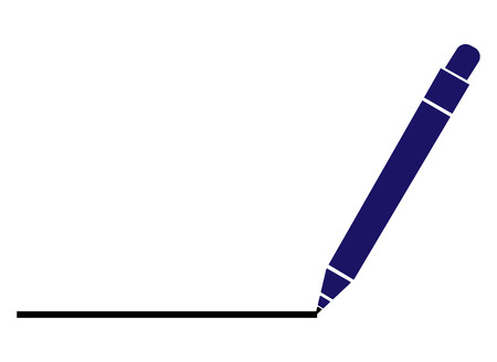 A Pen Drawing Line. simple flat vector illustration for web site or mobile app Stock Illustratie