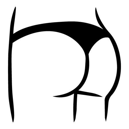 Bas de bikini ou culotte. icône vectorielle plate de sous-vêtements pour les applications de mode et les sites Web.