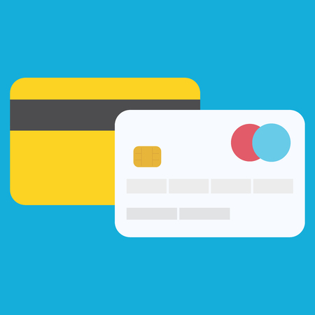 Credit card icon.Concept for websites, web banner. Flat design vector illustration. EPS10 Stock Illustratie