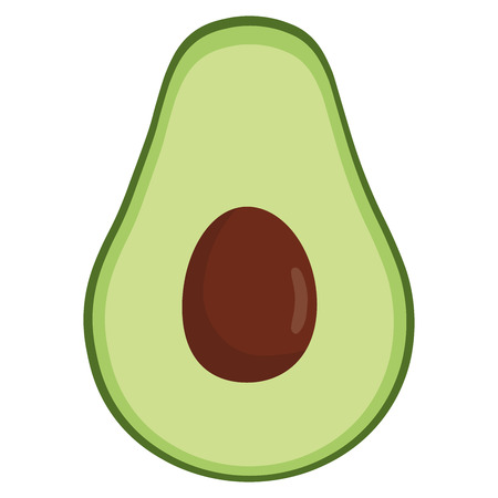 Avocado icon. Flat illustration of avocado vector icon isolated on white background Stock Illustratie