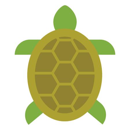 Schildkröte gefülltes Umrisssymbol, Linienvektorzeichen, lineares buntes Piktogramm einzeln auf Weiß. Symbol, Symbolabbildung. Pixelperfekte Vektorgrafiken