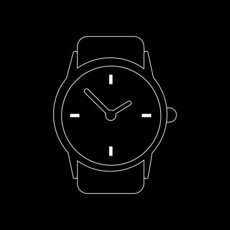 Clock watch icon in line style.