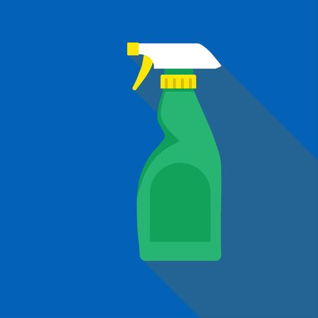 Cleaning bottle spray icon flat style