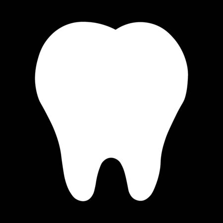teeth icon dentist flat vector sign/symbol. For mobile user interface Vectores
