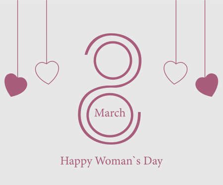 International womens day march 8 banner vector image