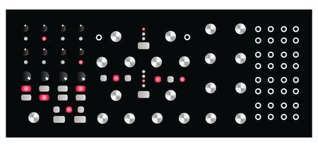 Semi-Modular Synthesizer. Electronic music. Analog sound