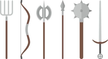 weapons: Medieval weapons set