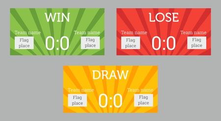 lose: Win, lose, draw patterns