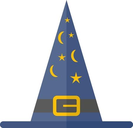 sombrero de mago: Sombrero de mago con estrellas y media luna