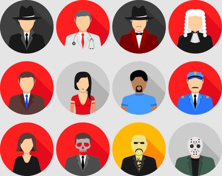 Set of characters for mafia psychologic game