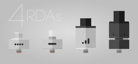 warmed: 4 RDAs rebuildable dripping atomizers flat set