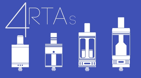 rta: 4 one color vaping clearomizers and RTAs set