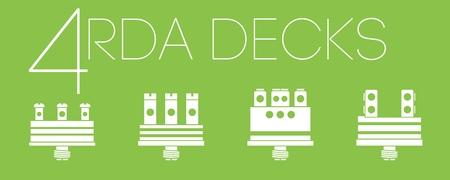 decks: 4 one color RDA decks icons set