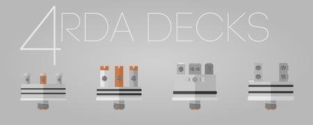 warmed: 4 colored flat RDA decks icons set Illustration