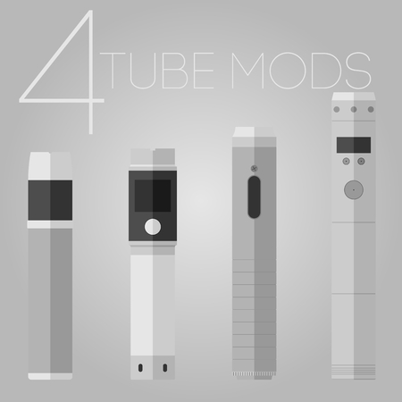 rta: 4 colored flat vaping tube mods set