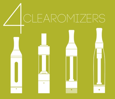 rta: 4 one color vaping stuff clearomizers set