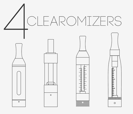 warmed: 4 thin lines vaping stuff clearomizers set