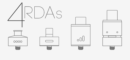 warmed: 4 RDAs thin lines flat icons set Illustration
