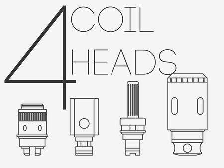 rta: 4  thin lines vaping coil heads set Illustration