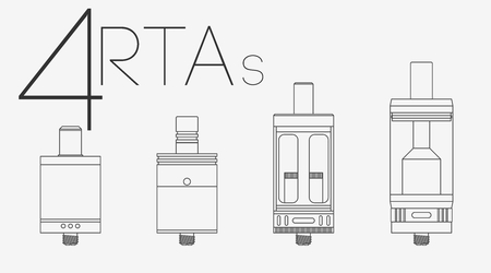 rta: 4  thin lines vaping clearomizers and RTAs set