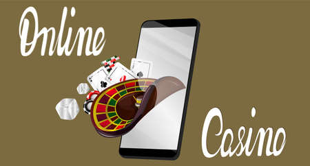 Vector image of an icon or interface for online casino gambling.