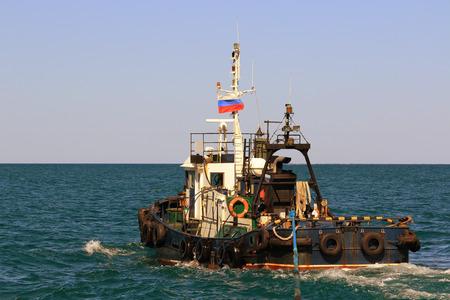 sakhalin: small sea going tug to tow on Sakhalin island