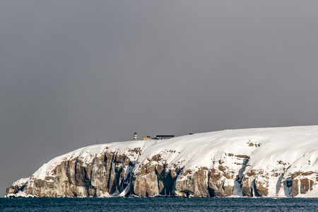inactive: inactive lighthouse on the snowy Cape in the Kuril Islands