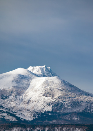 dormant: dormant volcanoes covered with snow Stock Photo