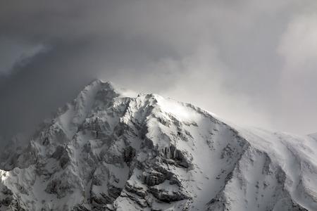 windward: Peaks in the winter sun beam lit Stock Photo