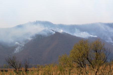 wildfire in the mountains Foto de archivo - 100776227