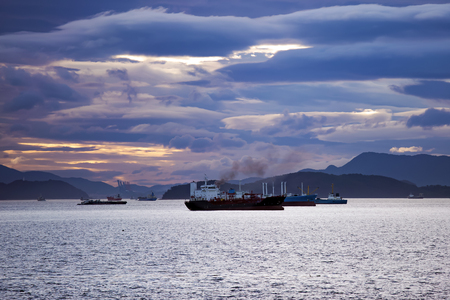 ships on the raid Foto de archivo - 116696727