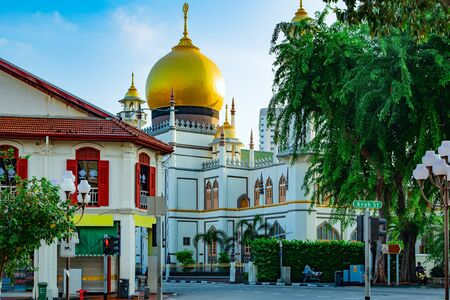 Gateway to the Masjid Sultan, Kampong Glam, Singapore. Foto de archivo